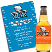 Super Bowl XLIX invitations and favors
